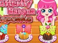 Butterfly Banana Cupcake