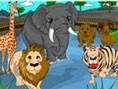 Hayvanat Bahçesi Boya Oyunu